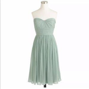 J. Crew Silk Chiffon Dress size 8